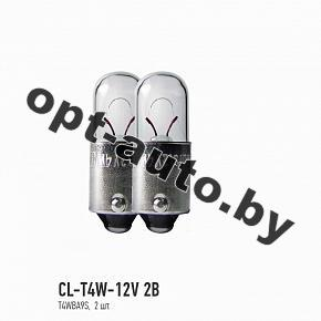 Автолампы Clearlight T4W 12V BA9S (блистер 2 шт.)